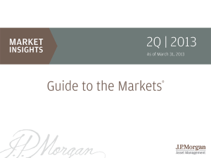 Cover page for JP Morgan Guide to the Markets