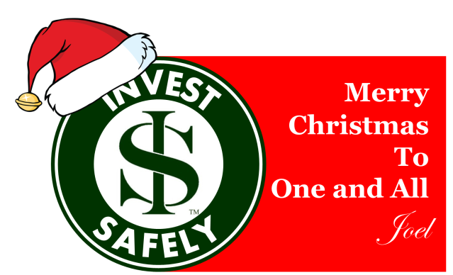 Invest Safely Logo with Santa hat