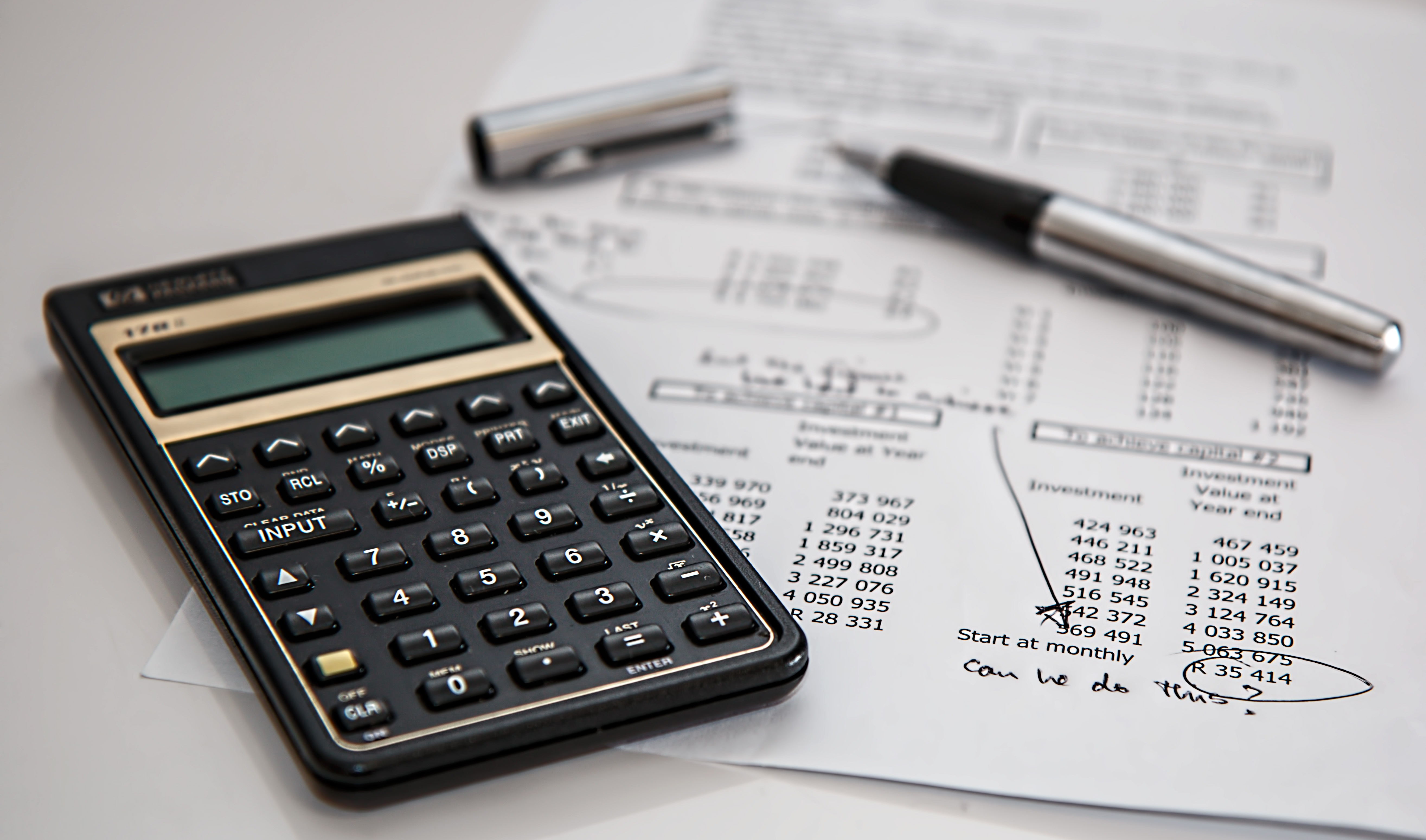 calculator and personal financial statement