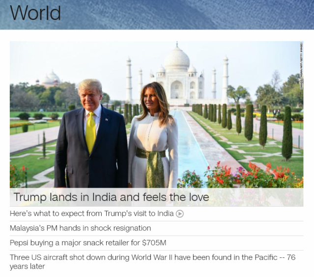 CNN World Homepage